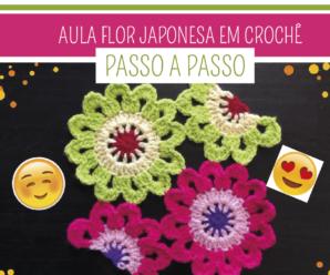 Como Fazer Flor de Crochê Japonesa