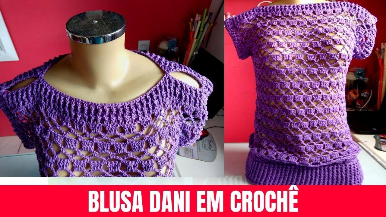 Como Fazer Blusa de Crochê Roxa