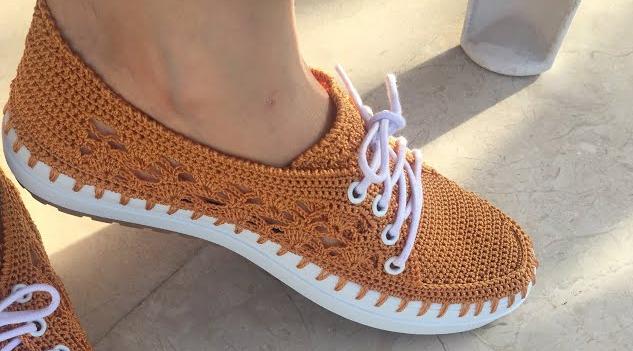 Sapato de Crochê Caramelo Feminino