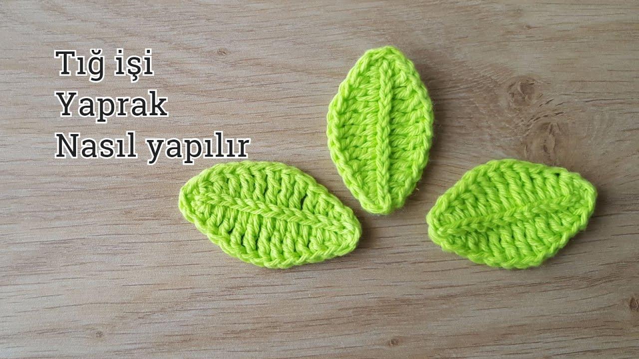 Folha de Crochê Verde Claro