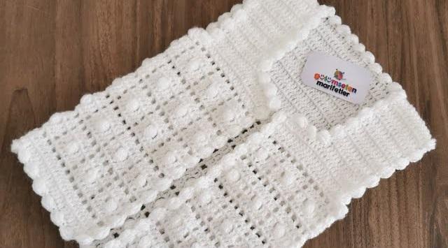 Casaquinho de Crochê Branco para Bebê