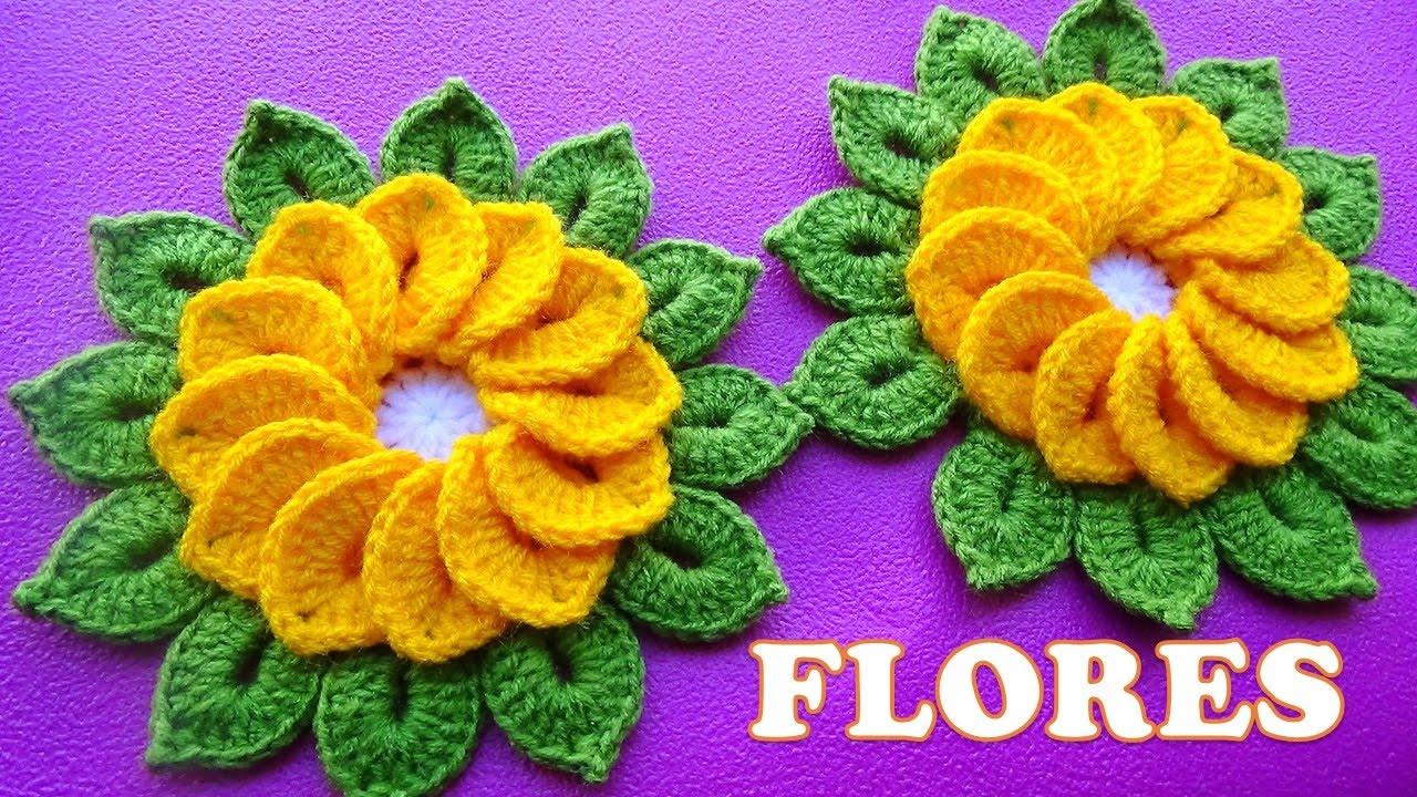 Flor de Crochê para Tapete e Centro de Mesa