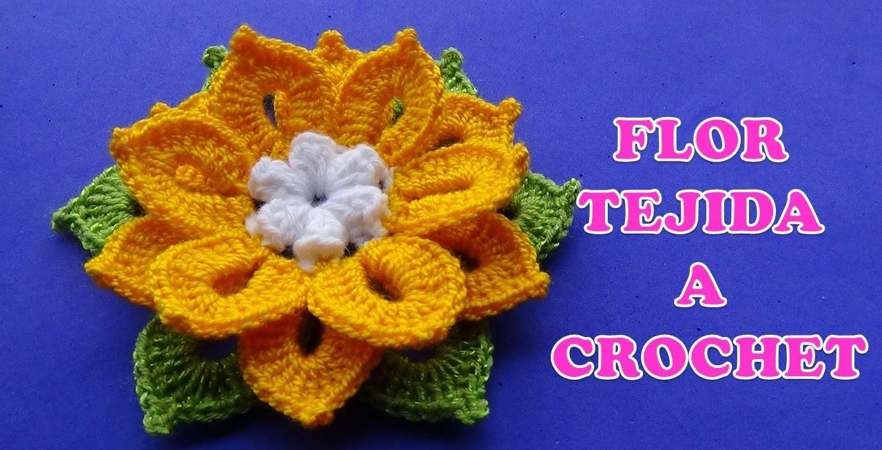 Flor de Crochê Amarela Jade