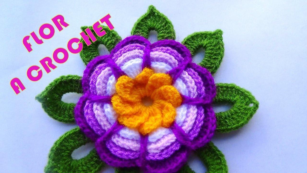 Flor de Crochê Rosita