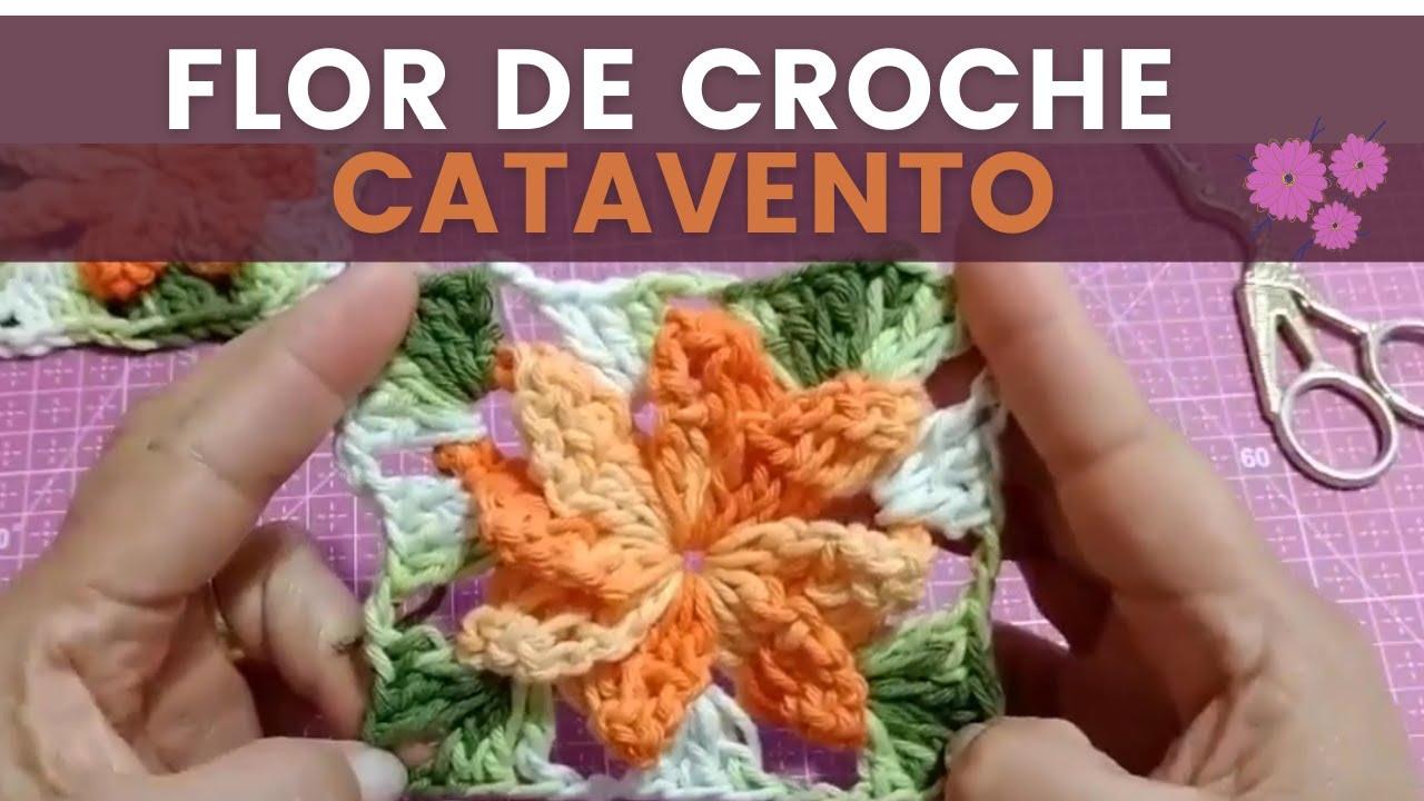 Flor de Crochê Catavento Simples + Inspiração