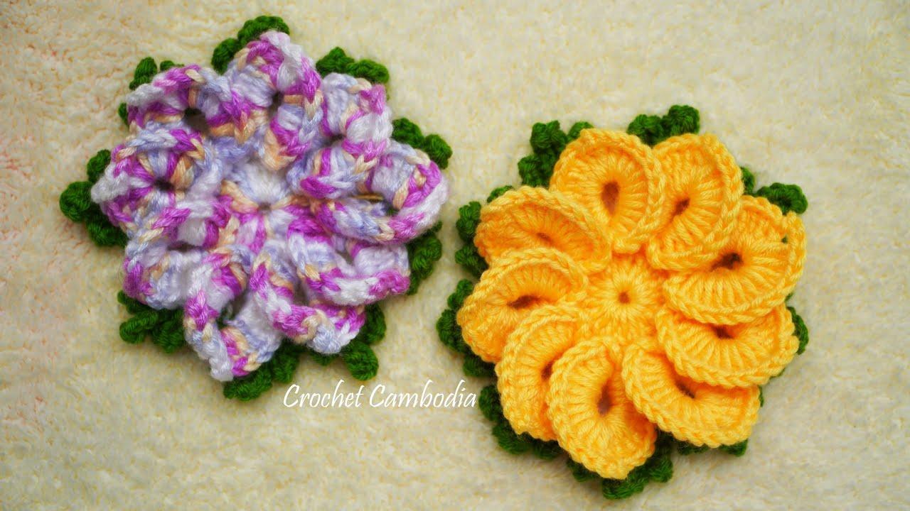 Flor de Crochê 3d Única