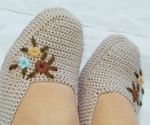 Sapato de Tricô Feminino Delicado